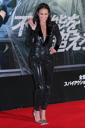 Paula Patton attends Mission: Impossible Ghost Protocol premiere in Tokyo, Japan, Dec 1, 2011