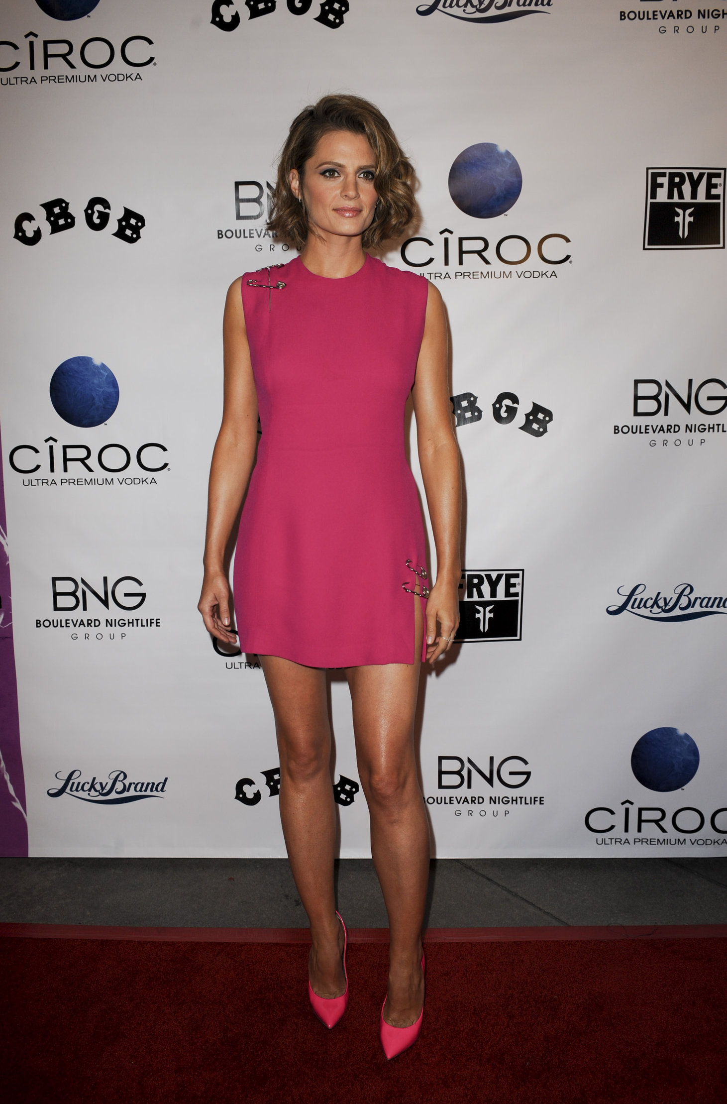 Stana Katic attends a screening of CBGB in Los Angeles