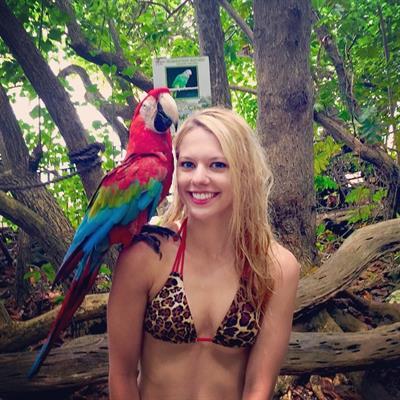 Alexa Knierim in a bikini