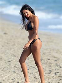 Nabilla Benattia in a bikini