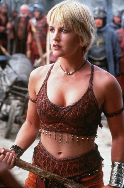 Renee O'Connor in a bikini