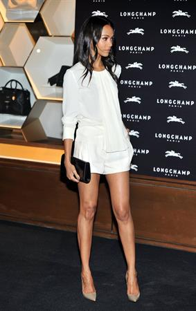 Zoe Saldana – Longchamp Opening Party in London 9/14/13