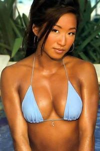 Gail Kim in a bikini