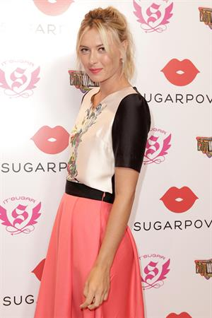 Maria Sharapova poses during Maria Sharapova launches her Sugarpova Candy Collection December 13, 2012