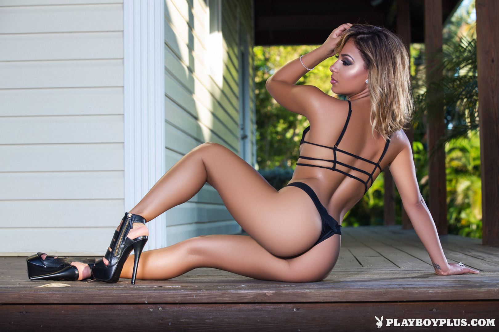 Playboy Cybergirl - Alisette Rodriguez Nude Photos & Videos at Playboy Plus! (in black bikini and high heels)