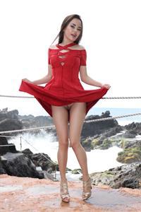 Li Moon in  Girl In Red  for WATCH4BEAUTY