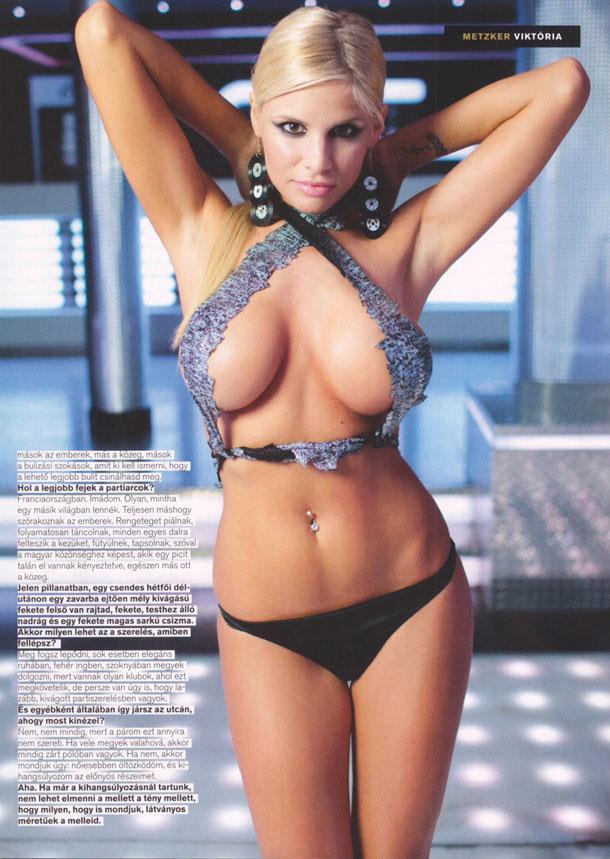 Metzker Viktoria in lingerie