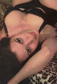 Paget Brewster in lingerie