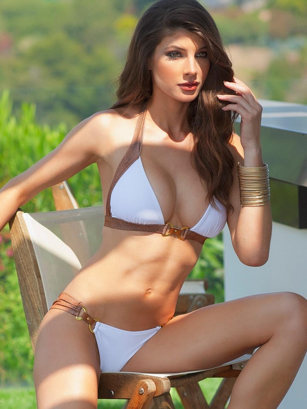 Cora Skinner in a bikini