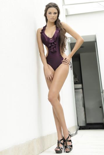 Cristy Garcés in lingerie