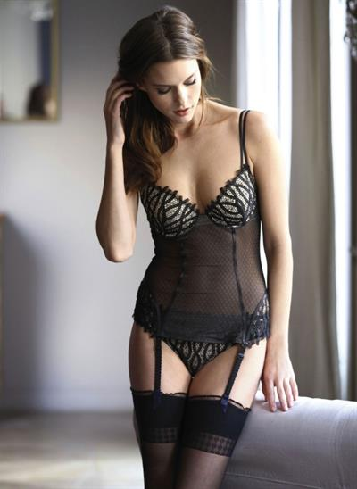 Kim Cloutier in lingerie