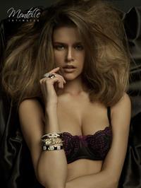 Kim Cloutier in lingerie
