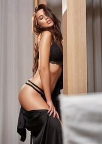 Anna Lena Bous in lingerie