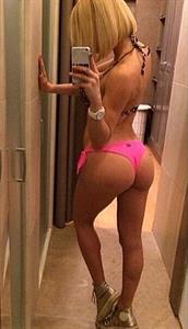 Alena Politukha in a bikini taking a selfie and - ass