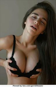 Busty Teen Model Squeezing Her Tits