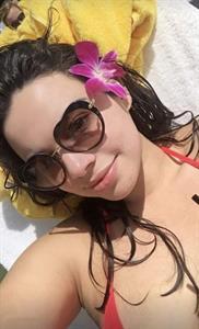 Riley Ticotin in a bikini