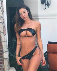 Valentina Fradegrada in a bikini
