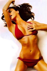 Melita Toniolo in a bikini