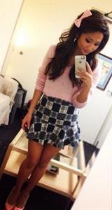 Brenda Song taking a selfie