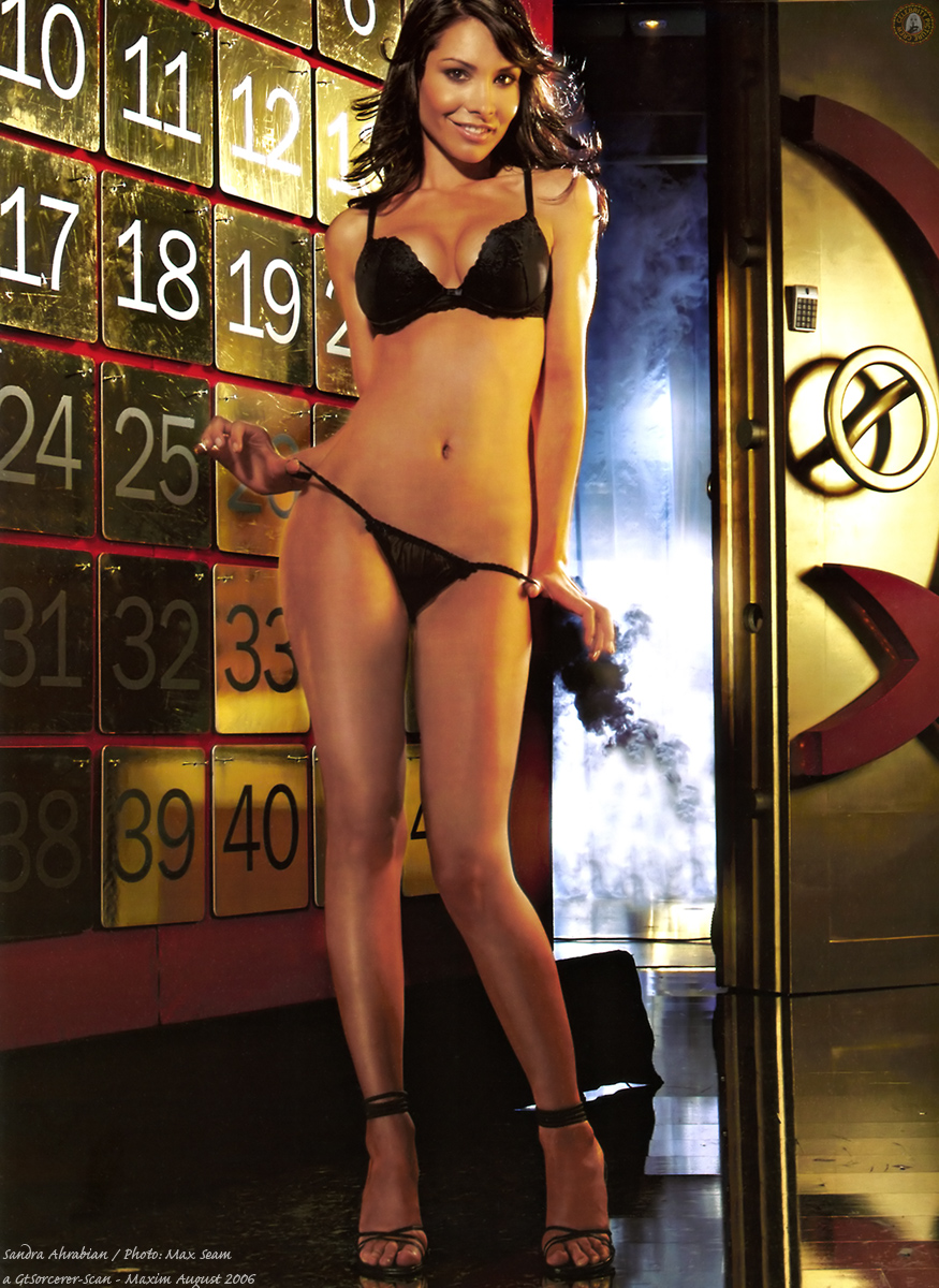 Sandra Ahrabian in a bikini