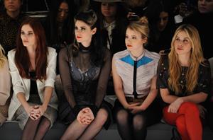 Taylor Spreitler Mara Hoffman Fall 2013 fashion show in New York 2/9/13