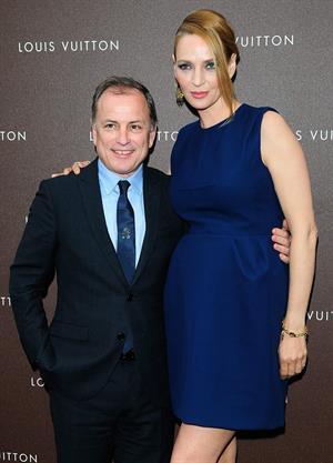 Uma Thurman Louis Vuitton Maison opening in Munich 4/23/13