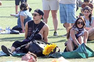 Vanessa Hudgens at Coachella Festival day 3 in Indio on April 14, 2013