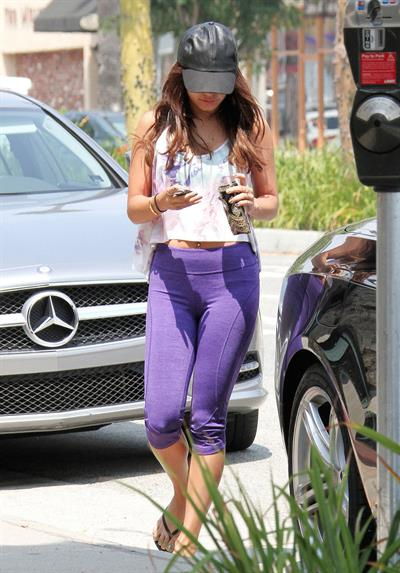 Vanessa Hudgens spotted after workout in Los Angeles on July 5, 2013