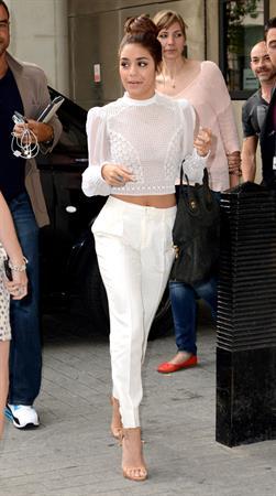 Vanessa Hudgens arriving at BBC Radio 1 in London on July 16, 2013