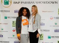Victoria Azarenka and Serena Williams - BNP Paribas Showdown Press Conference at Essex House March 4, 2013