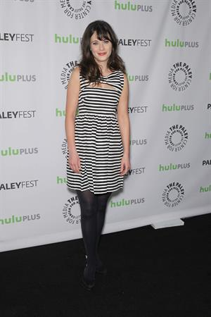 Zooey Deschanel New Girl Panel at 2013 PaleyFest in L.A. March 11, 2013