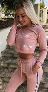 Emma in Pink Sweats with Halter Top