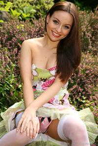 Carla looking stunning in summer dress
