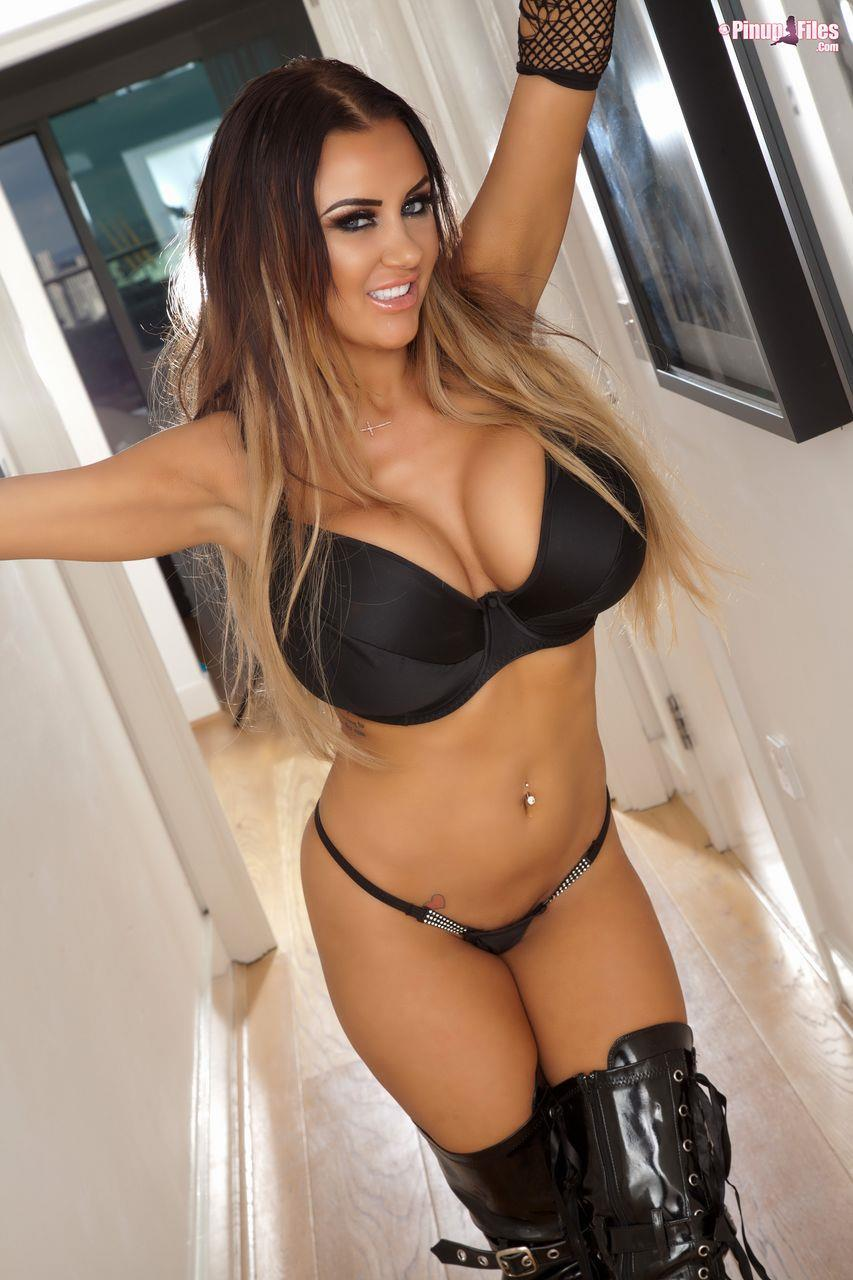 Busty Danniella in All Black, All Big You Need to Handle