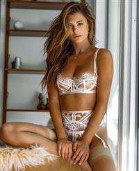 Shelby Bay in lingerie