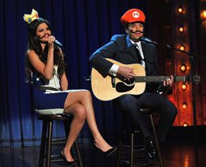 Selena Gomez on Late Night with Jimmy Fallon in NYC on March 19, 2013