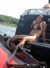 Tobin Heath in a bikini