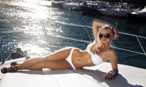Rose Dannely in a bikini
