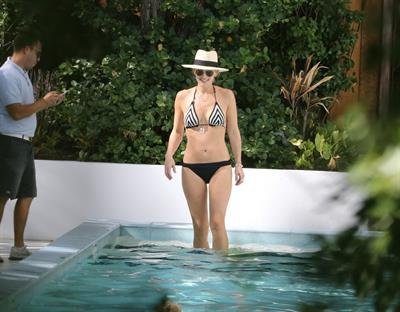 Molly Sims in a bikini
