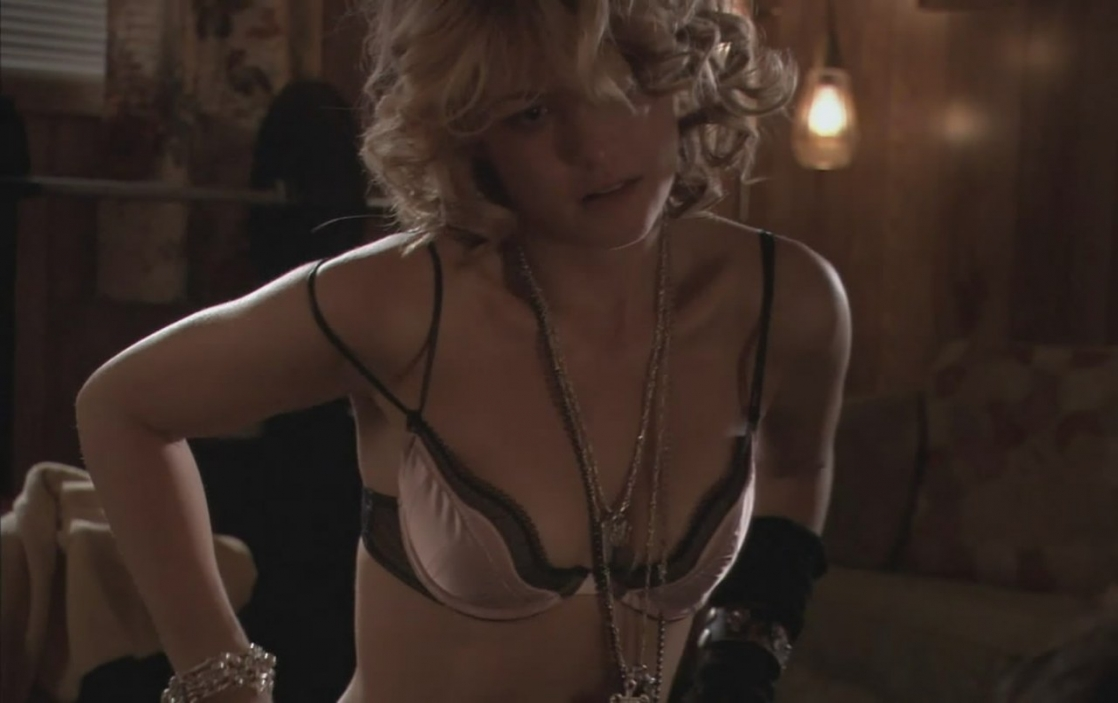 Nicki Aycox in lingerie