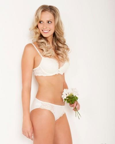 Rebecca Hunt in lingerie