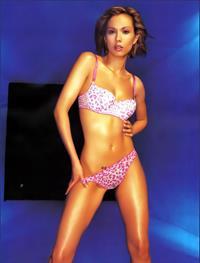 Lexa Doig in a bikini