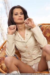 Janet Kener in lingerie