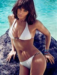 Helena Christensen in a bikini