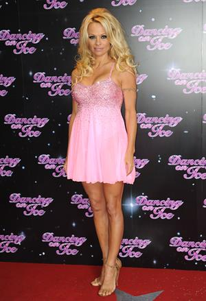 Pamela Anderson Photocall launch 'Dancing on Ice 2013' The London Television Centre 03.01.13
